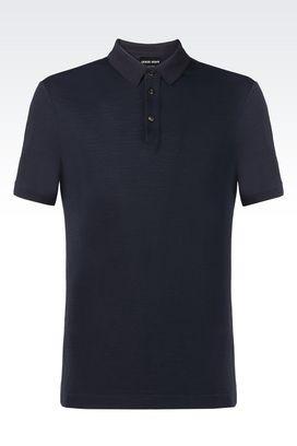 Armani T-shirts Uomo t-shirt polo in piquè con tre bottoni