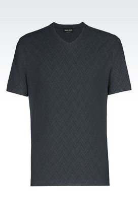 Armani T-shirts Uomo t-shirt in jersey di cotone con collo a v