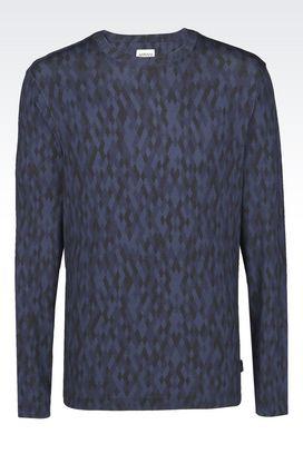 Armani Print t-shirts Men sweatshirt in jersey