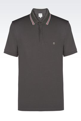 Armani Short-sleeved polos Men jersey polo shirt