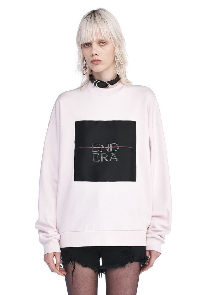 ALEXANDER WANG new-arrivals OVERSIZED SWEATSHIRT WITH END ERA PATCH