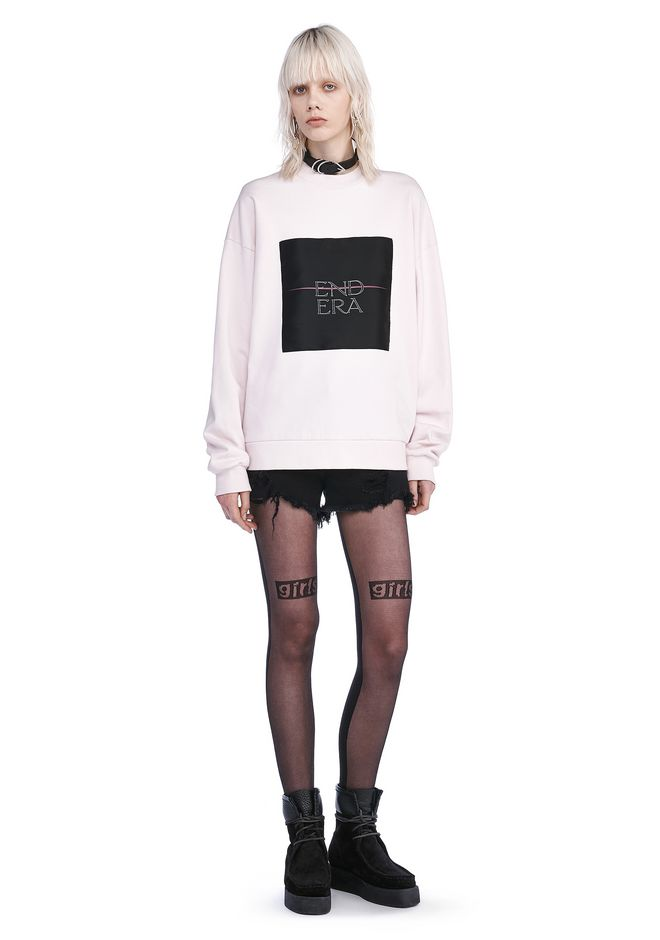 ALEXANDER WANG TOPS OVERSIZED SWEATSHIRT WITH END ERA PATCH