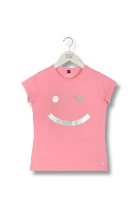 Armani Short-sleeve t-shirts Women smile print jersey t-shirt