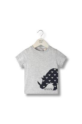 Armani Short-sleeve t-shirts Men animal print 100% cotton t-shirt