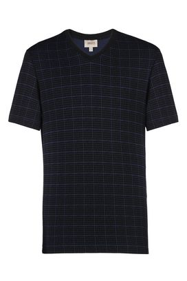 Armani T-Shirt Uomo t-shirt scollo a v fantasia a quadri