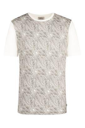 Armani Tshirt stampate Uomo t-shirt in cotone stampa tropical