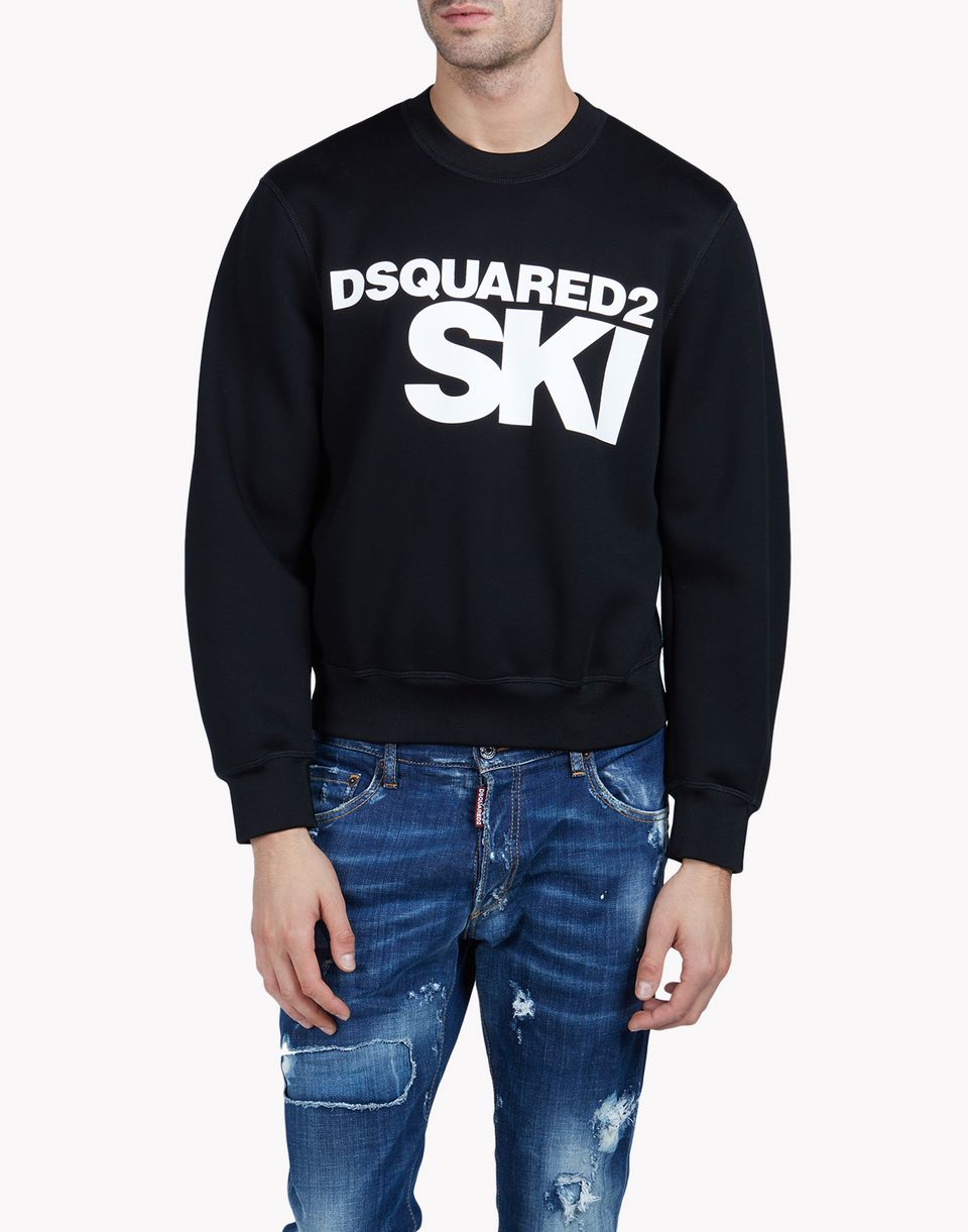 dsquared2 ski sweatshirt black sweatshirts for men official store. Black Bedroom Furniture Sets. Home Design Ideas