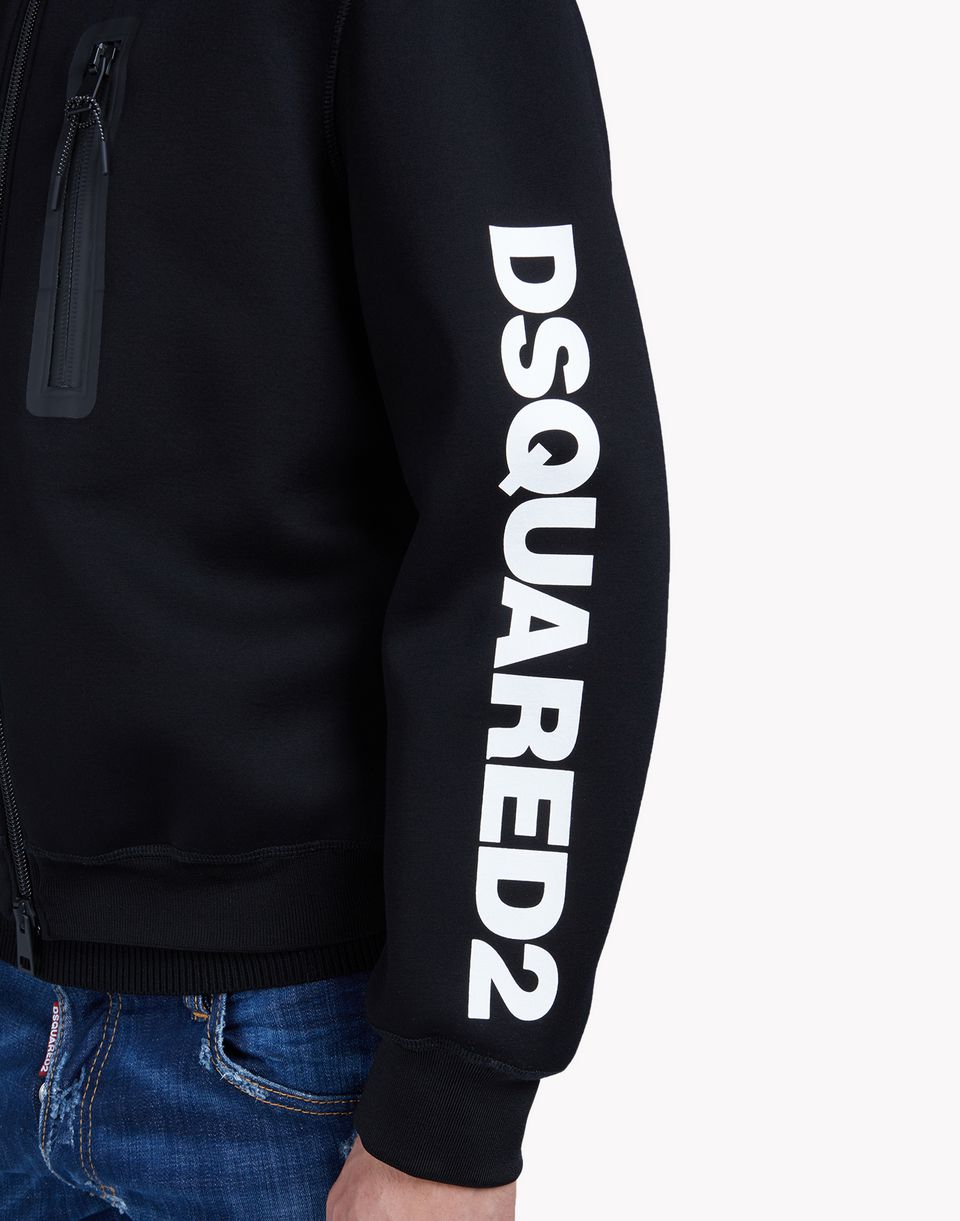 d2 hooded zip-up sweat jacket tops & tees Man Dsquared2