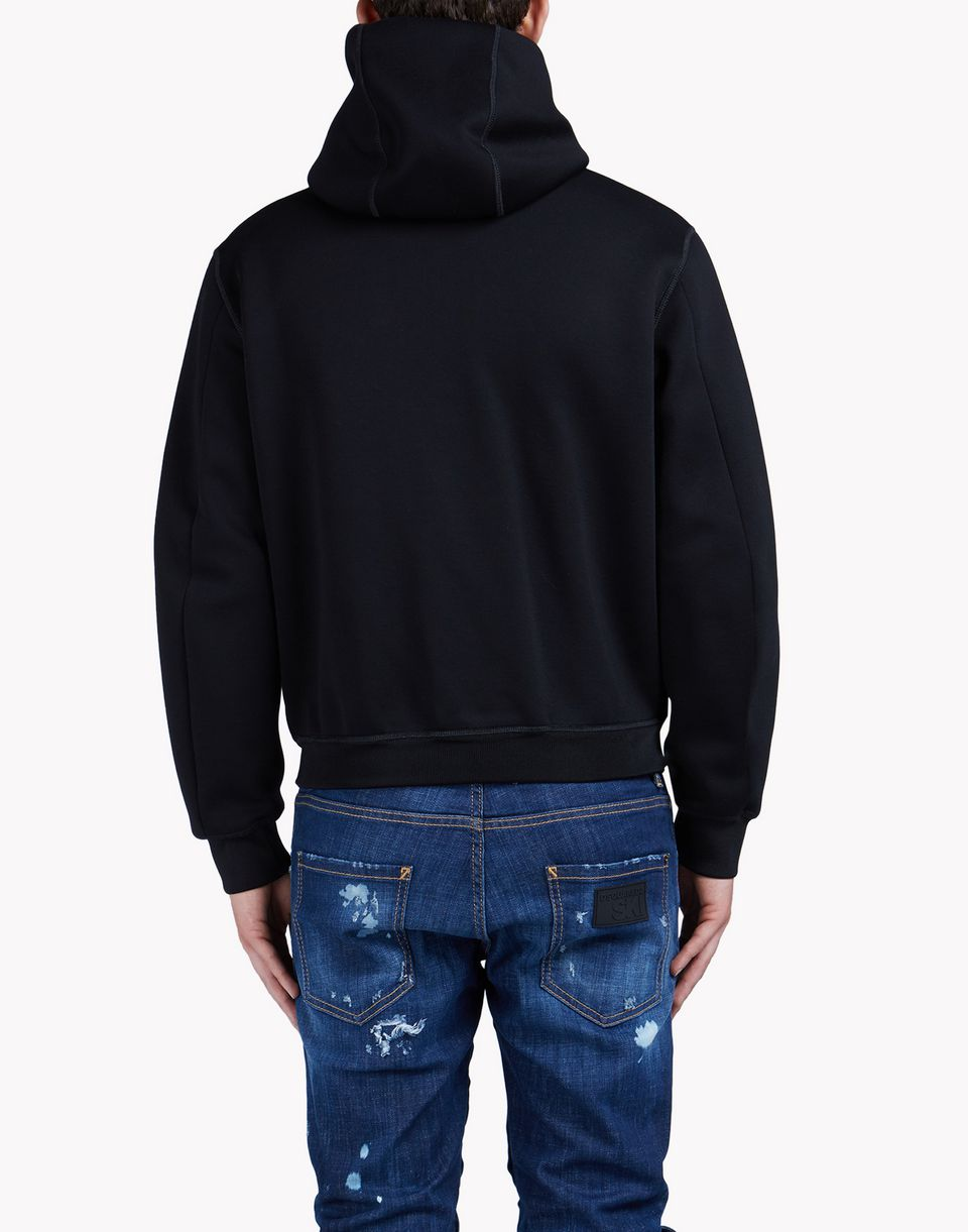 d2 hooded zip-up sweat jacket top wear Man Dsquared2