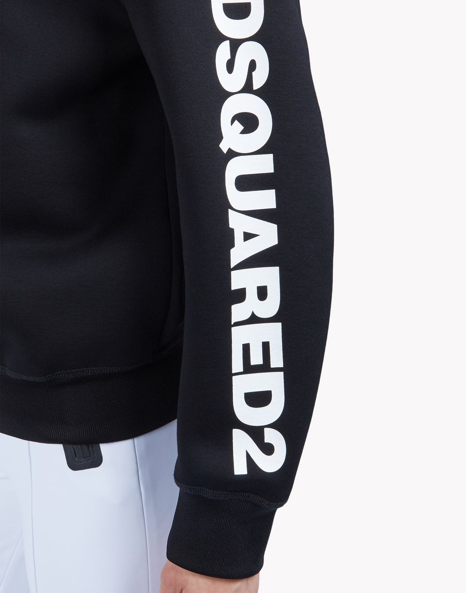 zipped hooded sweat jacket tops & tees Woman Dsquared2