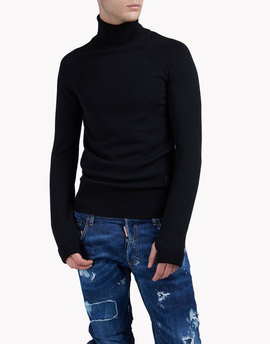 wool ski turtleneck pullover tops & tees Man Dsquared2