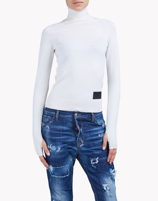 turtleneck sweater top wear Woman Dsquared2