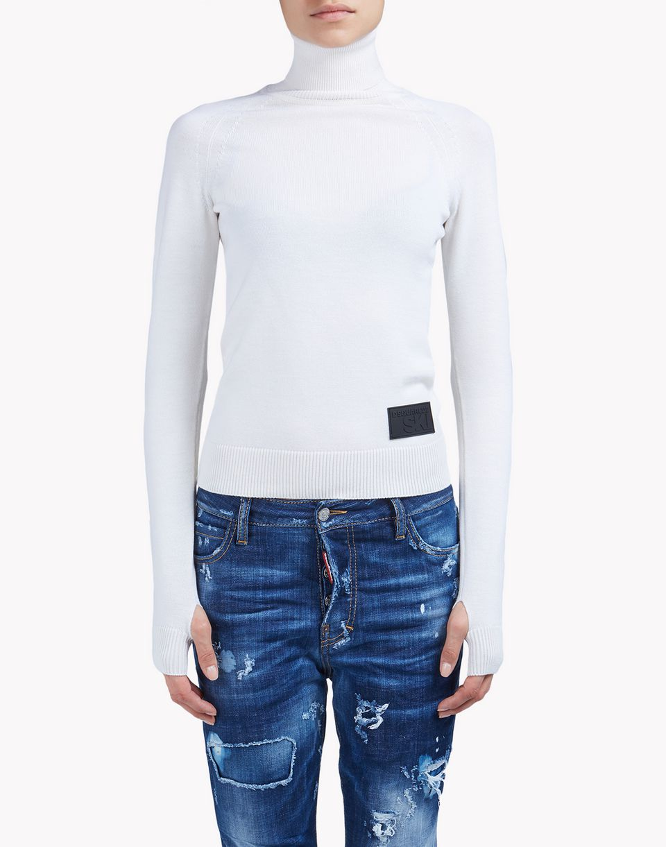 technical ski wool turtleneck sweater top wear Woman Dsquared2