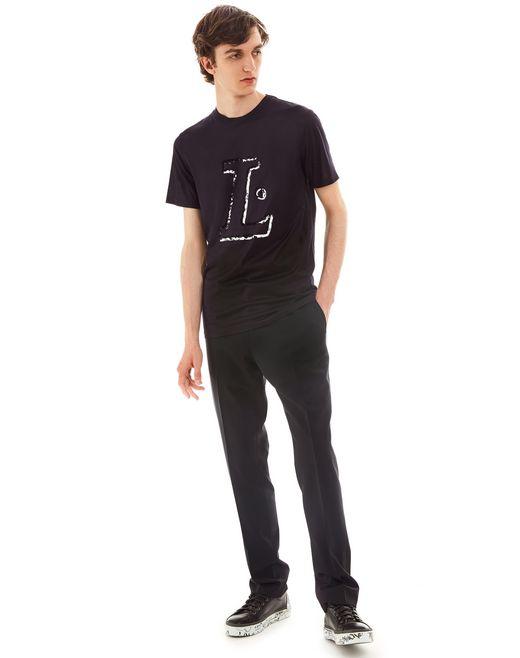 "lanvin ""l"" ink slim-fit t-shirt men"