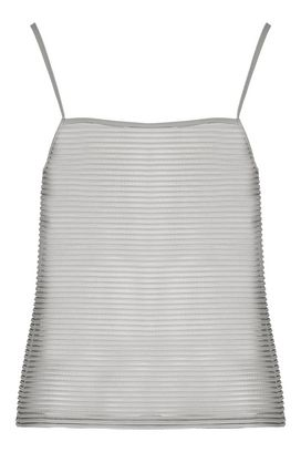 Armani Sleeveless tops Women striped transparent jersey top