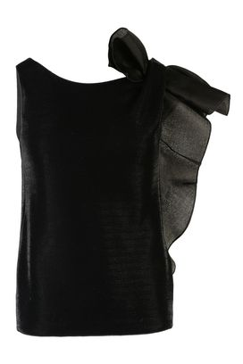 Armani Sleeveless tops Women silk organza vest with bow