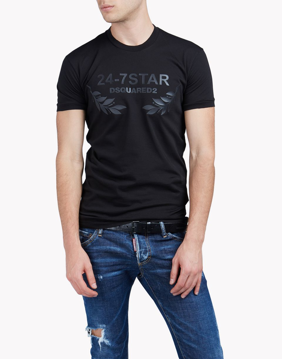 dsquared2 24 7 star t shirt short sleeve t shirts for men official store. Black Bedroom Furniture Sets. Home Design Ideas