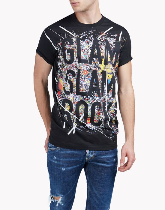 printed cotton-jersey t-shirt tops & tees Man Dsquared2