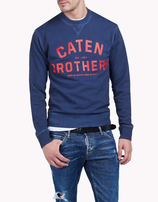 caten brothers sweatshirt camisetas y tops Hombre Dsquared2