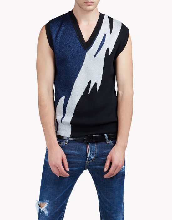 flash vest tops Homme Dsquared2