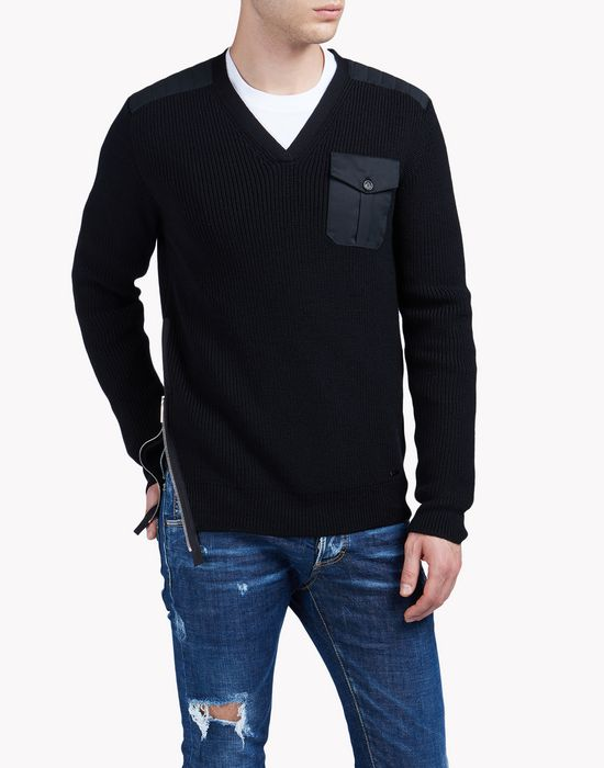 v-neck wool sweater camisetas y tops Hombre Dsquared2