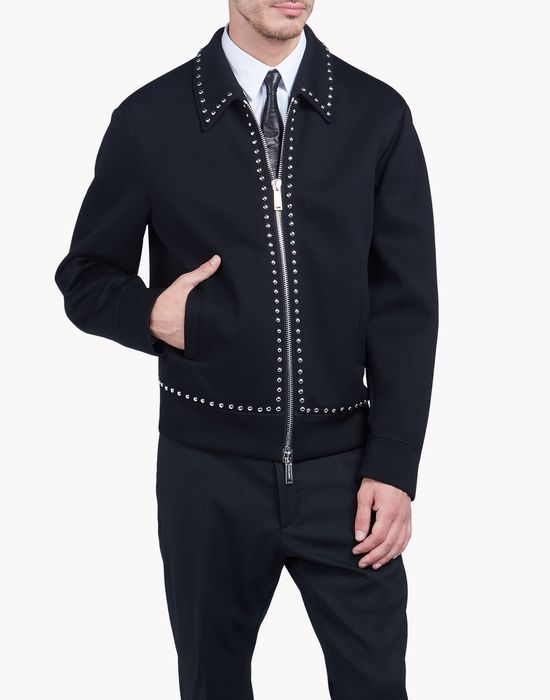 studded collared jacket tops & tees Man Dsquared2