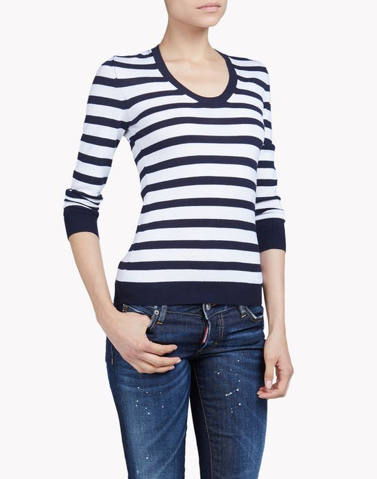 striped wool sweater camisetas y tops Mujer Dsquared2