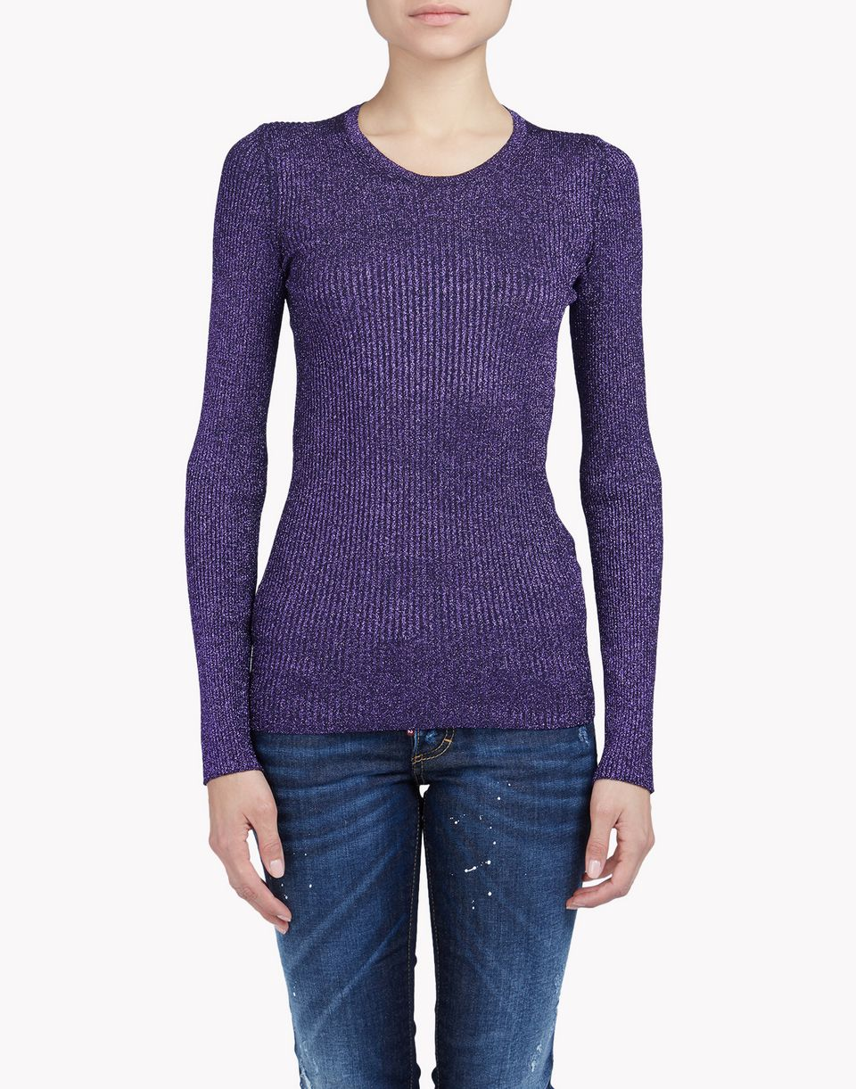 metallic sweater top wear Woman Dsquared2