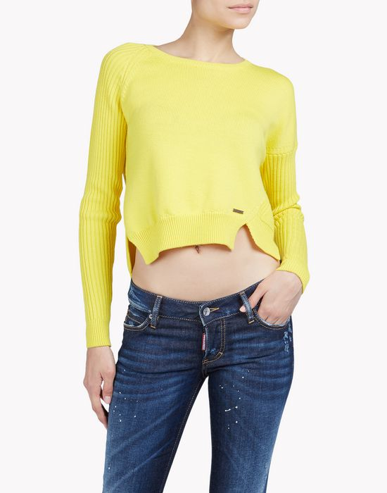 cropped wool sweater tops & tees Woman Dsquared2