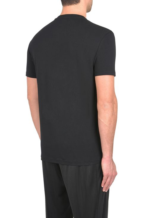 T-SHIRT IN COTONE STRETCH : T-Shirt manica corta Uomo by Armani - 3