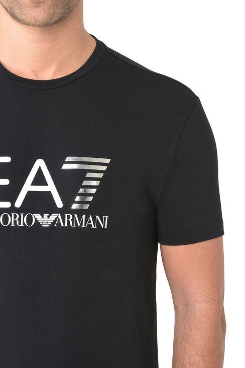 T-SHIRT IN COTONE STRETCH : T-Shirt manica corta Uomo by Armani - 4