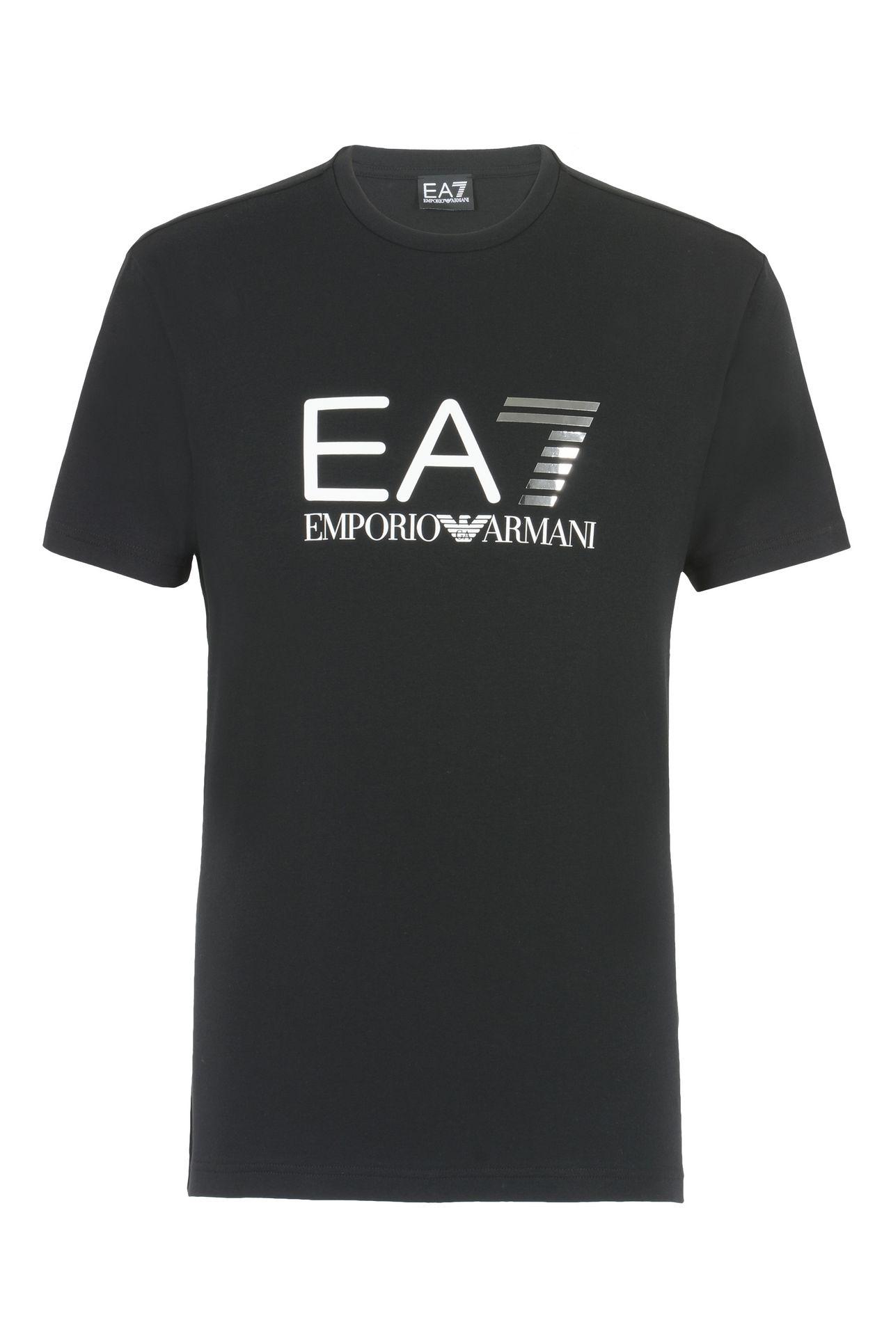 T-SHIRT IN COTONE STRETCH : T-Shirt manica corta Uomo by Armani - 0