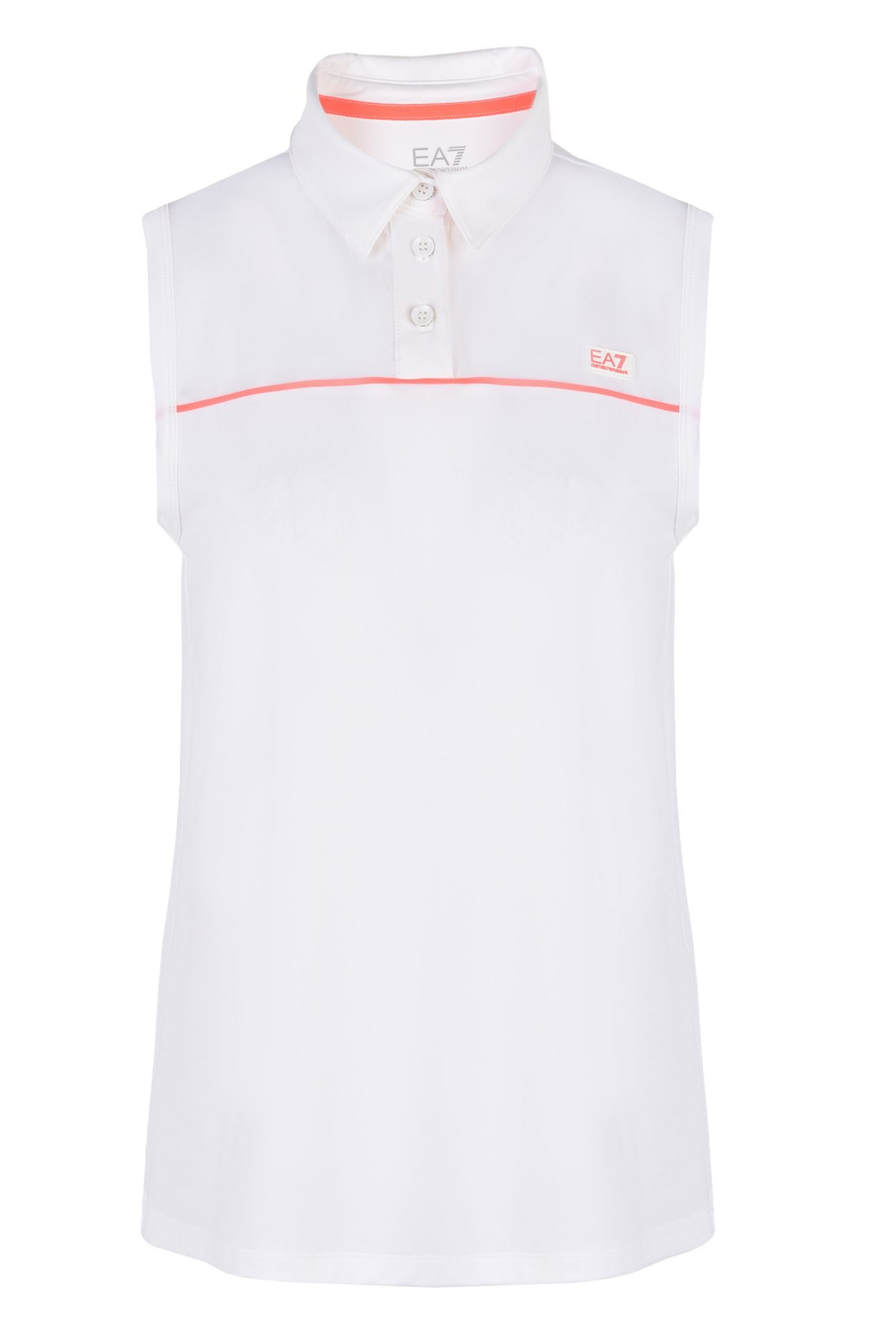 T-SHIRT IN JERSEY STRETCH : Polo senza maniche Donna by Armani - 0