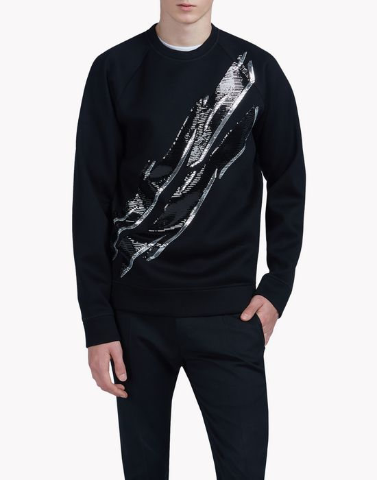 sequin embellished sweatshirt  camisetas y tops Hombre Dsquared2