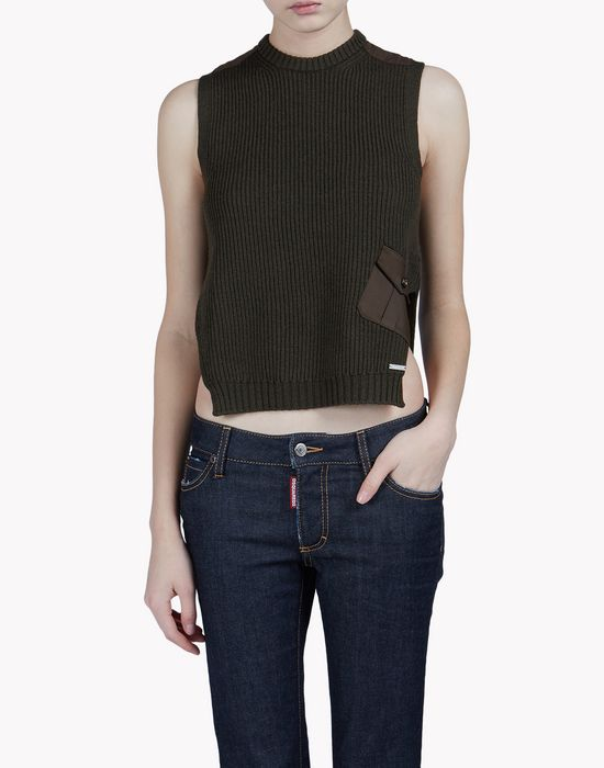 knit wool top tops & tees Woman Dsquared2