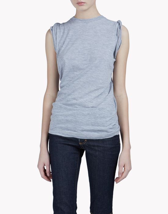 cotton tank top camisetas y tops Mujer Dsquared2