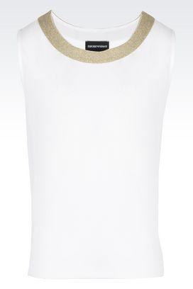 Armani Sleeveless tops Women cotton jersey top
