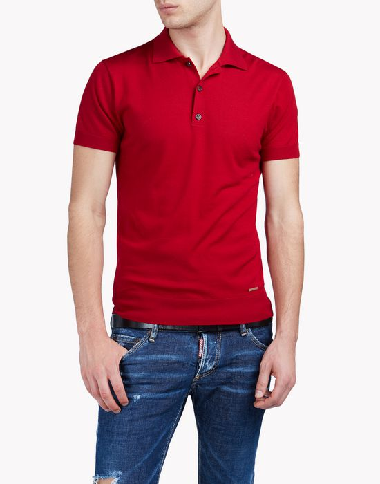 wool polo shirt tops & tees Man Dsquared2