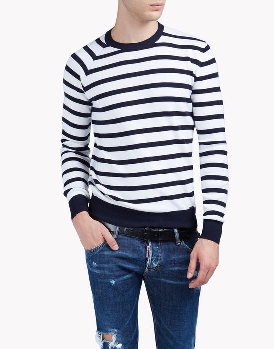 striped wool sweater camisetas y tops Hombre Dsquared2