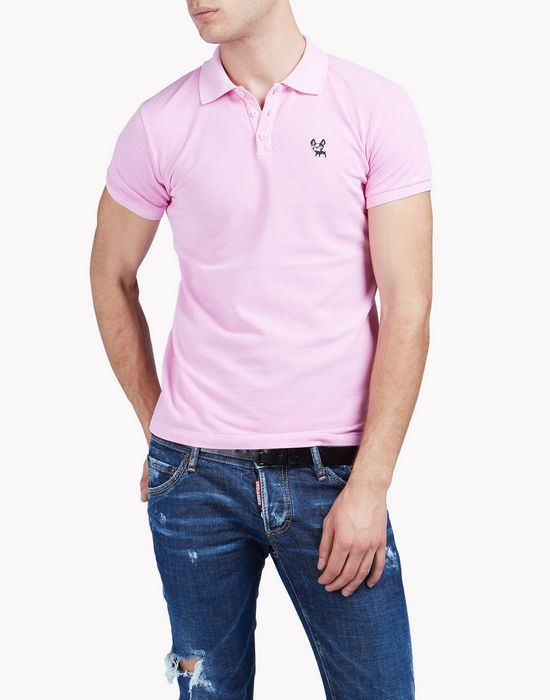 ciro cotton piqué polo shirt tops & tees Man Dsquared2