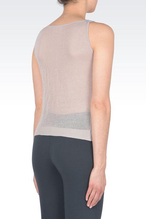 Linen blend top : Sleeveless tops Women by Armani - 3
