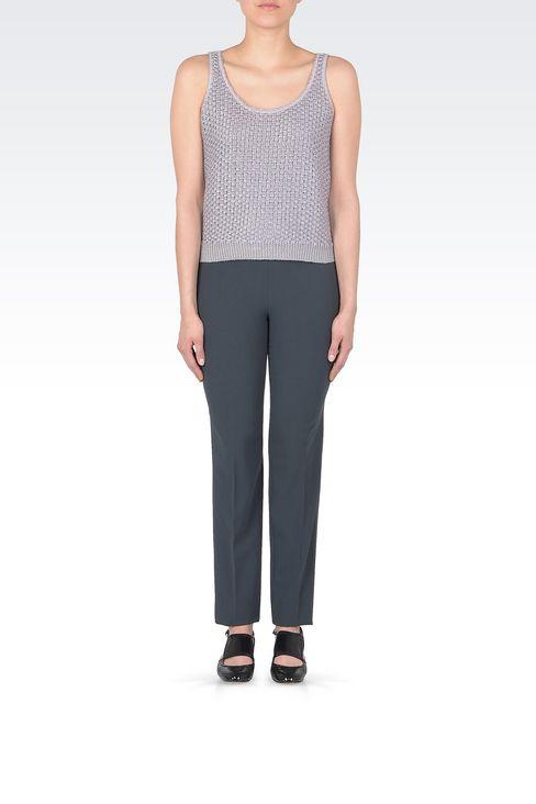Linen blend top : Sleeveless tops Women by Armani - 2