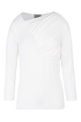 Armani T-Shirt Donna maglia manica lunga scollo arricciato