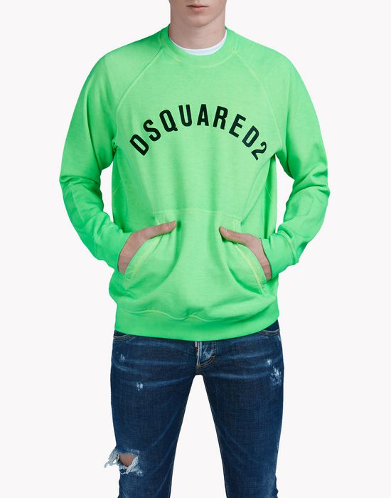 d2 printed sweatshirt tops & tees Man Dsquared2