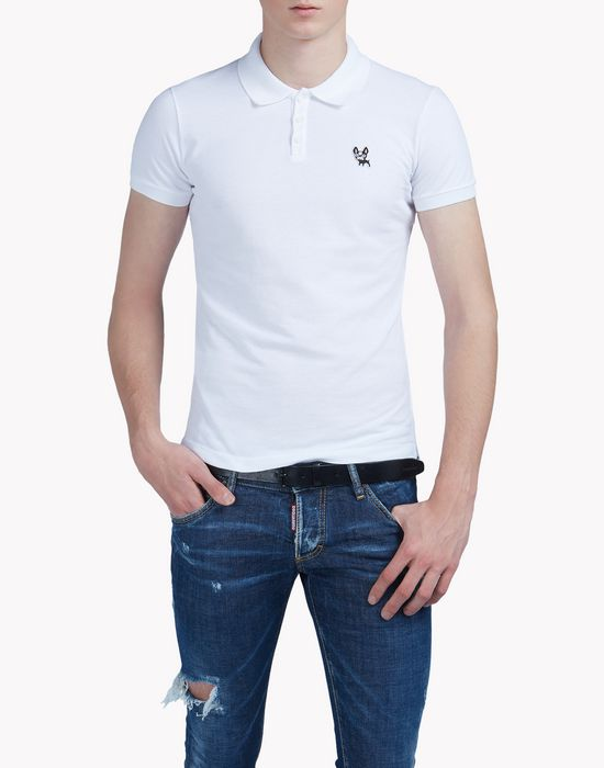 piquet polo shirt tops & tees Man Dsquared2
