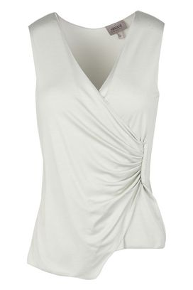 Armani Sleeveless tops Women draped crossover vest