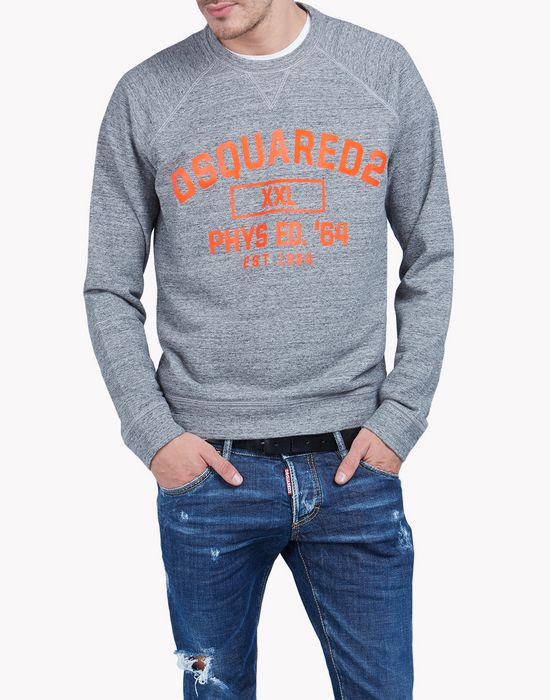 d2 cotton sweatshirt tops & tees Man Dsquared2
