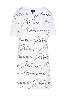 Armani Print t-shirts Women long 100% cotton t-shirt