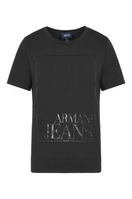Armani Tshirt stampate Donna t-shirt in jersey di cotone streth con logo