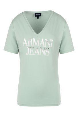 Armani Tshirt stampate Donna t-shirt in cotone stretch con logo